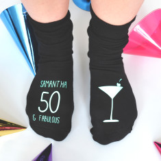 Personalised Cocktail Birthday Socks