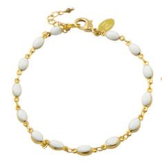 Promenade in a Summer day in Paris  enamel bracelet