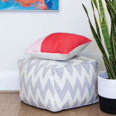 Red & Pink Colour-Block Cushion Covers (set of 2)