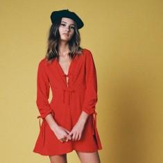 Señorita mini red dress