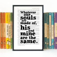 Wuthering Heights Whatever Our Souls Are Made Of Romantic Quote Book Print