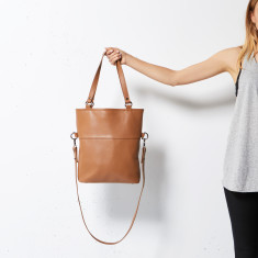 Wasteland leather bag in tan