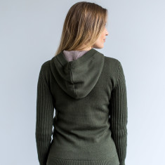 Victoria Modern Pullover Hoodie In Khaki