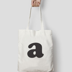 Personalised Monogram Typography Tote Bag Canvas