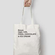 Personalised Tote Bag Canvas or Black – Your unique tote with personal shopping list