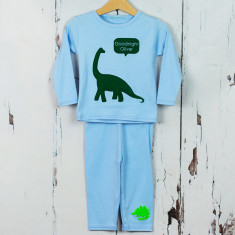 Personalised Dinosaur baby pyjamas