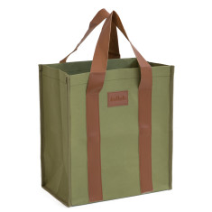 Washable Kraft Paper Market Bag in Coal