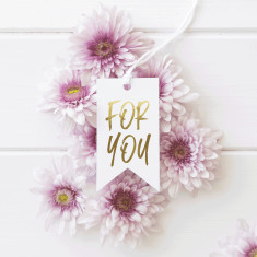 Silver or Gold Foil For You Gift tags (Set of 10)