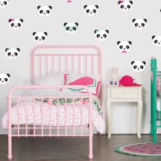 Panda Love wall decal