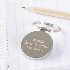 Personalised world's best teacher keyring