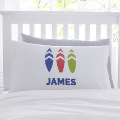 Personalised Boys Surfboard Pillowcase