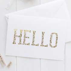 Gold Foil Hello Greeting Card
