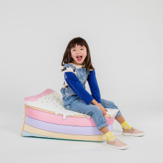 Woouf Bean Bag Cover - Rainbow Cake