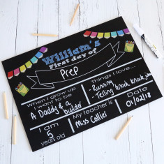 First Day of school - personalised blackboard reusable sign