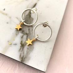 Gold divinity star earrings
