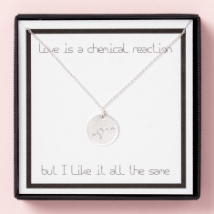 Love Is A Chemical Reaction Necklace in Gift box