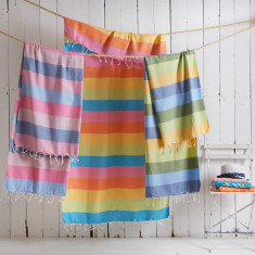 Deckchair Stripe Turkish Hammam Towel