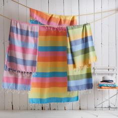 Deckchair Stripe Turkish Hammam Towel