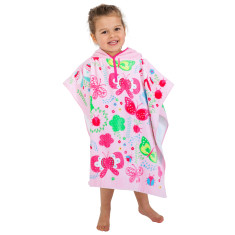 Kids' Summer Garden Towel Poncho