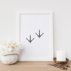 Bird feet drawing print