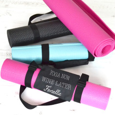 Yoga Now, Wine Later Personalised Yoga Mat