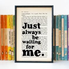 Peter Pan quote romantic print