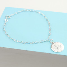 St Christopher sterling silver travel bracelet