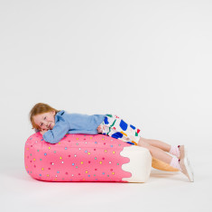 Woouf Bean Bag Cover - Pink Ice Cream