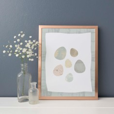 Bird Egg Birch Tree Nursery Wall Art Print