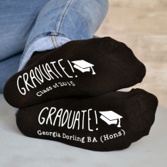 Personalised graduation socks