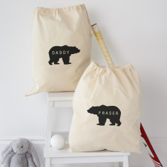 Personalised Daddy Bear Storage Bag