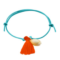 Shell tassel bracelet on cord