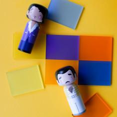 Music Icons; Kokeshi Dolls - Prince & Freddie