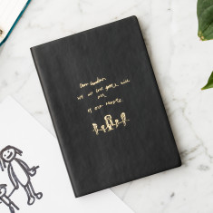 Personalised Drawing PU Leather Notebook