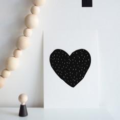 Heart dash print