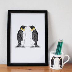 Penguin Party Print