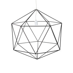 Matte Hex Pendant Light