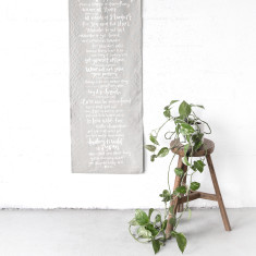 Things to remember linen wall banner