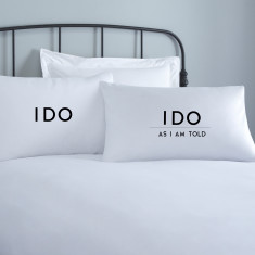I Do Wedding Pillowcases