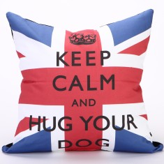 Keep calm & hug your dog cushion cover