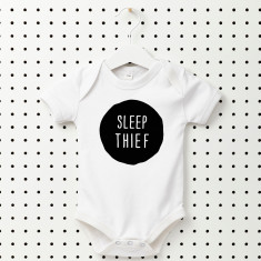 Sleep thief baby onesie
