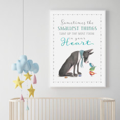 Sometimes the Smallest Things Take up The Most Room in your Heart Print