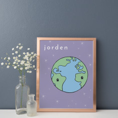 Jorden Earth Illustration Fine Art Nursery Print