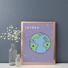 Jorden Earth Illustration Fine Art Nursery Print