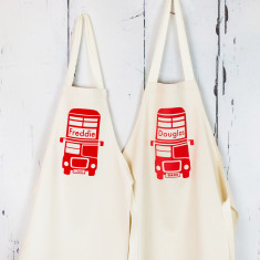 Personalised London Bus Apron