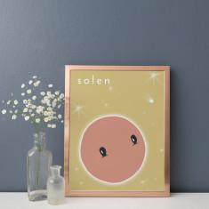 Solen Sun Illustration Fine Art Nursery Print