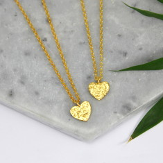 Gold vermeil heart charm necklace