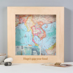 Personalised Map Travel Adventure Fund Money Box