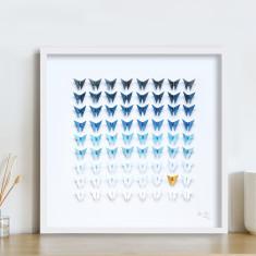 Ocean Framed Butterfly Artwork