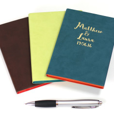 Personalised Anniversary PU Leather Notebook